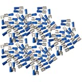 100PCS Female Insulated Spade Wire Connector Electrical Crimp Terminal 14-16AWG