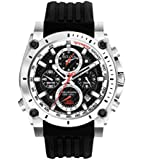 Bulova Precisionist Men's UHF Watch with Black Dial Analogue Display and Black Rubber Strap 98B172