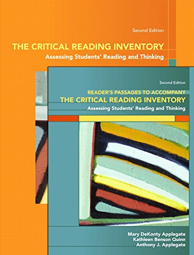 The Critical Reading Inventory: Assessing Students...