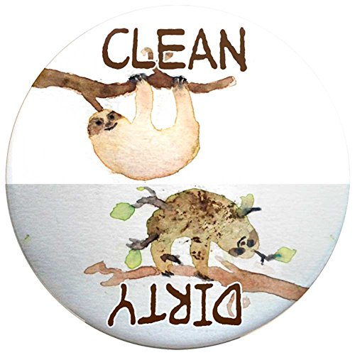 Buttonsmith Clean-Dirty Dishwasher Magnet (Sloths) - Made in the USA