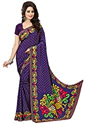 Design Willa Smooth feel Art crepe Sari (DWPC034,Multicolor)