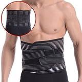 OHMI 3Dボーン内蔵 腰痛 ベルト 腰用 コルセット 腰 サポーター 男性用 女性用 兼用 S~XXL フル メッシュ タイプ (M)