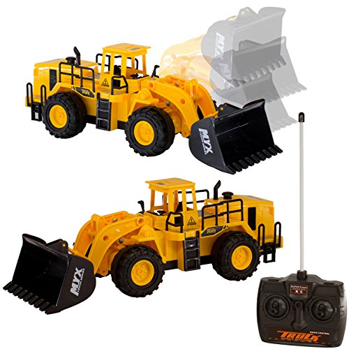 6 Channel Rc Remote Control Bulldozer Construction Truck Toy Gift For Boys Kids Children