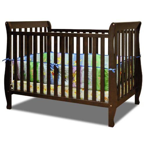 Baby Mile Hannah 4-In-1 Convertible Crib - Espresso front-641934