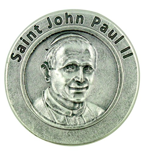Pope Saint John Paul II Pocket Token with Have No Fear of Moving Prayer (Pope John Paul Ii Coin compare prices)