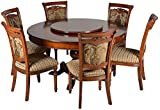 Suvashsika Six Seater Dining Table Set (Matt Finish, Brown)