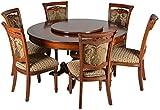 Suvashsika Six Seater Dining Table Set (Matt Finish, Brown)