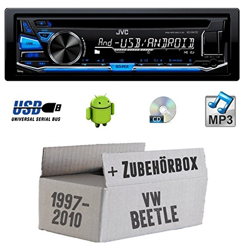 VW Beetle 1 9C - JVC KD-R472E - CD/MP3/USB Autoradio - Einbauset