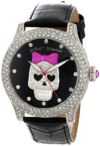 Betsey Johnson Women's BJ00019-05 Analog Skull Dial Watch