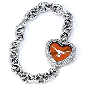 NCAA Ladies CH-TEX Heart Series Texas Longhorns Watch by Game Time