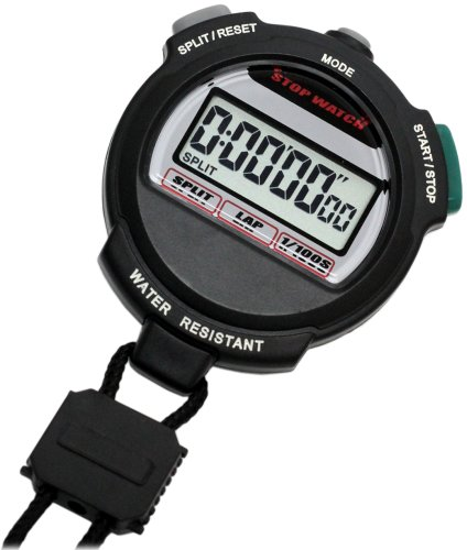 [Crerar] CREPHA digital stopwatch 3 ATM water resistant countdown measurement black TEV-4013-BK