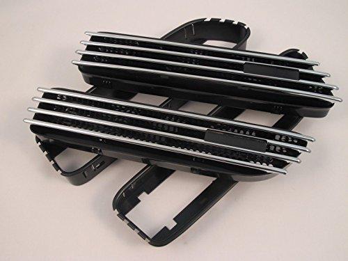 (2) Ersatz Chrom/Schwarz Seite Grill Gitter Fender Belüftungsöffnungen für BMW E4601-06