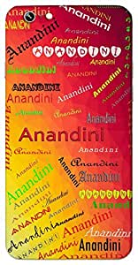 Anandini (Joyful) Name & Sign Printed All over customize & Personalized!! Protective back cover for your Smart Phone : Samsung Galaxy E5