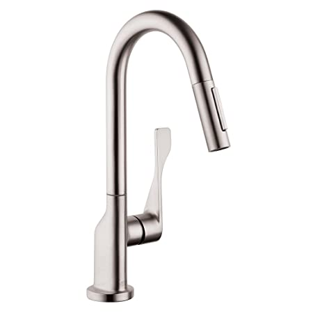 Hansgrohe 39836801 Axor Citterio Prep Kitchen Faucet, Steel Optik