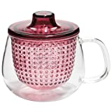Wine Red Unimug Tea Cup with Infuser