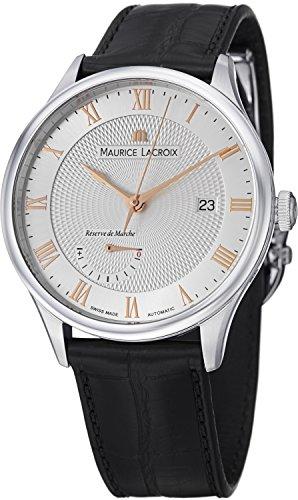 Maurice Lacroix Masterpiece Reserve de Marche Hombres de plata cara reloj automático mp6807-ss001-111