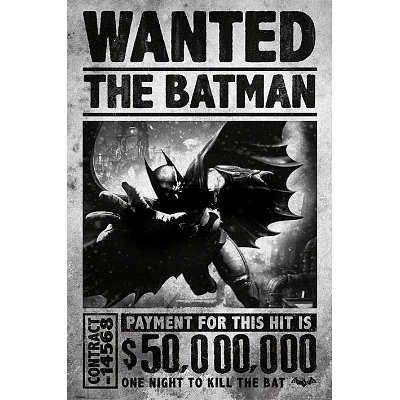 (24x36) Batman Arkham Origins (Wanted) Video Games Poster at Gotham City Store