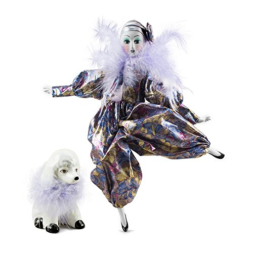 The Kimberly Collection Porcelain Parisian Doll with Poodle - 1