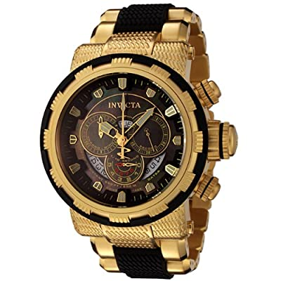 Invicta Men's 6662 Reserve Collection Chronograph 18k Gold-Plated and Black Watch
