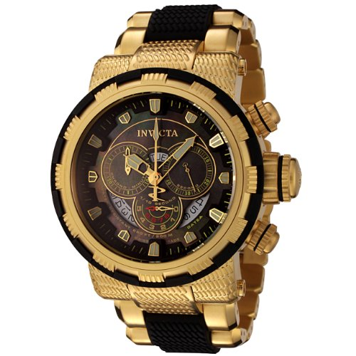 invicta reserve collection chronograph 18k gold plated