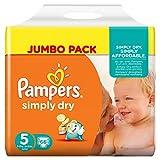 Pampers Windeln Simply Dry Gr. 5 Junior 11-25 kg Jumbo Pack, 2er Pack (2 x 66 St�ck) Bild