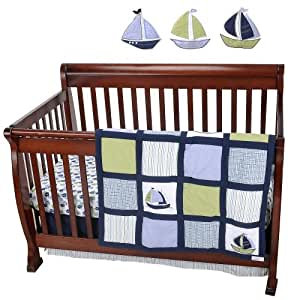 Amazon.com : Nautica Kids Zachary 7-Piece Crib Bedding Set ...