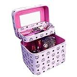 Nckoo レディース メイクボックス コスメボックス 化粧ボックス (パープル2)