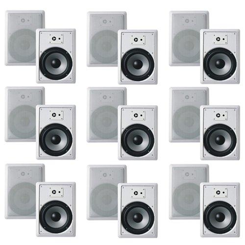 "Acoustic Audio SP8c In Ceiling 8/"" Speaker 3 Pair Pack 2 Way Home 1800W SP8c-3PR"