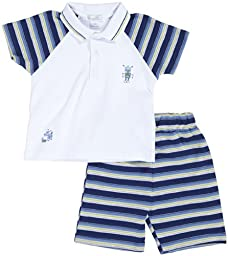 Kissy Kissy 2 Piece \'Bermuda\' Set (Baby) - Navy Multi - 3-6 Months