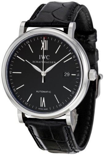 IWC Men's IW356502 Portofino Automatic Black Dial Watch