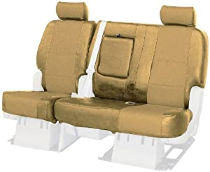 Coverking Custom Fit Front 40/20/40 Seat Cover for Select GMC Models - Genuine Leather (Beige)