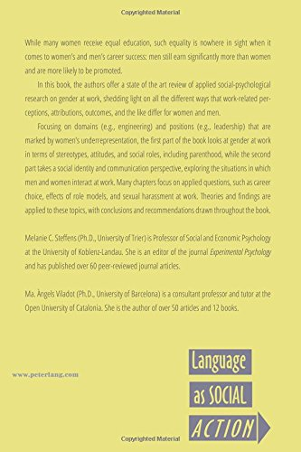 Gender at Work: A Social Psychological Perspective (Language as Social Action)