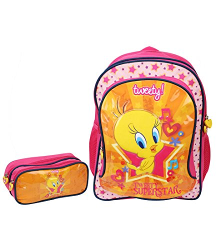 "Tweety Tweety School Bag 18"" W\/Pouch (Multicolor)"