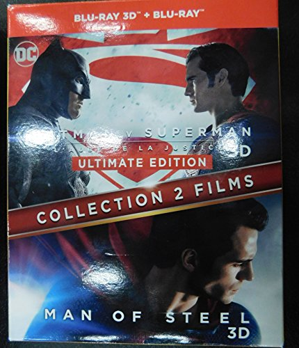 Collection 2 Films : Batman V Superman : L'aube De La Justice + Man Of Steel - Combo Blu-Ray 3d + Blu-Ray 2d
