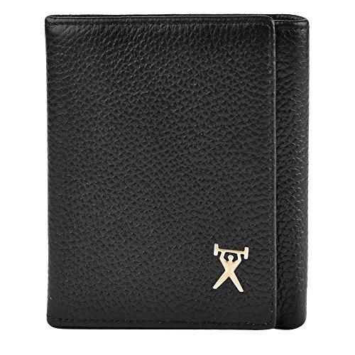 クロース(Kroeus)財布 メンズ 二つ折り ウォレット ステッチ 男性 高品質 軽量財布 カード収納 2001 タテ ブラック