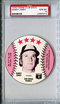 1976 MSA Towne Club Sports Discs RANDY JONES Rare PSA Gem Mint 10 SP San Diego Padres / New York Mets