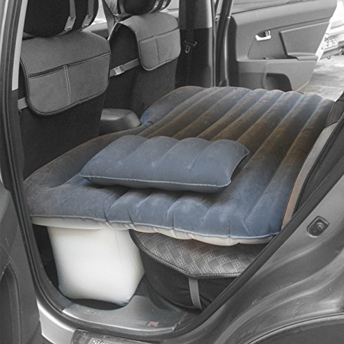New Style Car Inflation Cushion, Multifunctional Air Bed, Travel & Camping Car Mattress (Dark grey)