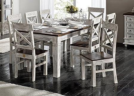 stile coloniale acacia mobili in legno massello in legno massello tavolo da pranzo 210X100 MANGO MASSELLO COLONIALE LEGNO MASSELLO Mobili Antico Castello #112