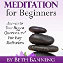 Meditation for Beginners: Answers to Your Biggest Questions and Five Easy Meditations Audiobook by Beth Banning Narrated by Rosemary Benson