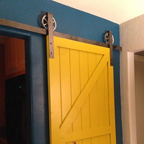 sale !!! Vintage Classic Sliding Door Hardware Kit (6 foot, Raw Steel) (Vintage Barn Door Hardware compare prices)