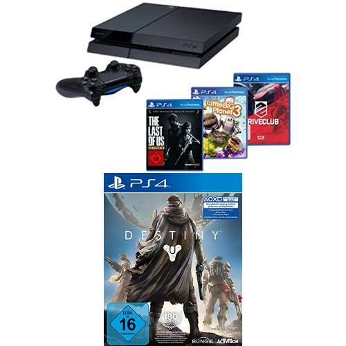 PlayStation 4 - Konsole + DriveClub, Little Big Planet 3 + The Last of Us: Remastered + Destiny