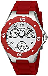 Invicta Women's 0701 Angel Collection Cranberry Multi-Function Rubber Watch