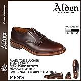 (オールデン) ALDEN プレーン トゥ ブルーチャー シューズ PLAIN TOE BLUCHER Dワイズ MADE IN USA クロムエクセル レザー メンズ 29364F ダークブラウン US10-28.0 (並行輸入品)