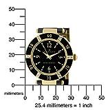 AK Anne Klein Women's 109416BKBK Swarovski Crystal Accented Gold-Tone Black Ceramic Watch