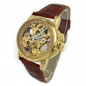 Youyoupifa Brown Automatic Mechanical Movement Unisex's Watch