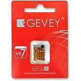 Gevey Ultra S Unlock Karte V.2.02 für iPhone 4S - iOS 7 - 5.1 freischaltbar inkl. Charmate® Help Card