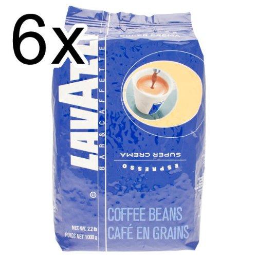 Lavazza Super Crema Espresso Coffee Beans 6kg (6x1kg)