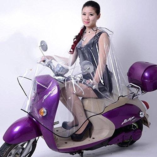 Epaisseur-Sans-odeur-Bike-voiture-lectrique-Transparent-manches-Impermable-Poncho