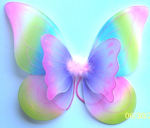 Double Layered Rainbow Fairy Princess Wings