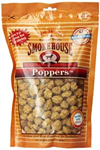 Smokehouse 100-Percent Natural Chicken Poppers Dog Treats, 16-Ounce